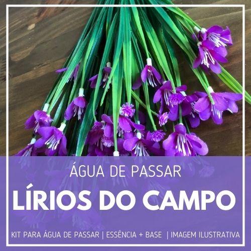 Essência Lírios do Campo + Água de Passar - Ganhe Válvula Borrifadora