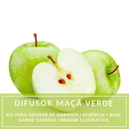 Essência Maçã Verde + Base Perfume - Ganhe Varetas