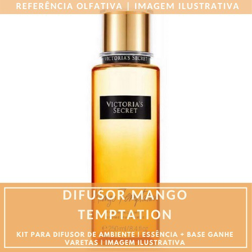 Essência Mango Temptation + Base Perfume - Ganhe Varetas