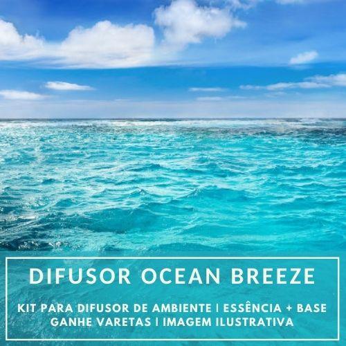 Essência Ocean Breeze + Base Perfume - Ganhe Varetas