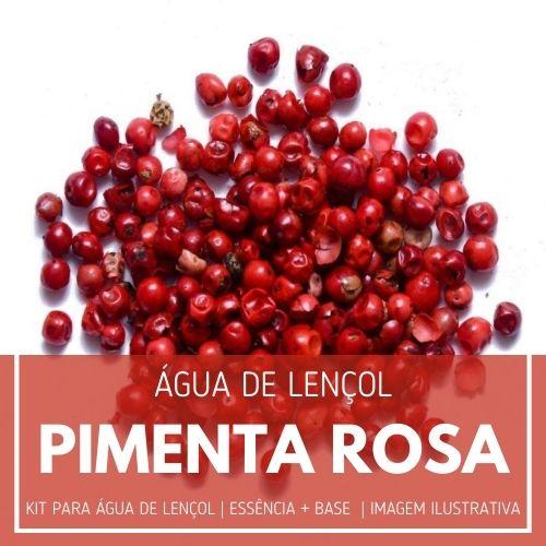 Essência Pimenta Rosa + Água Lençol - Ganhe Válvula Borrifadora