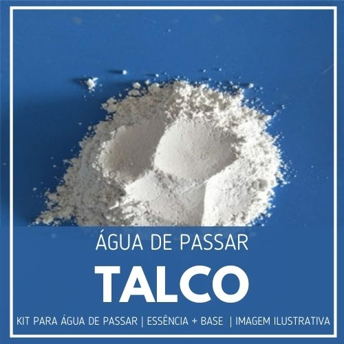 Essência Talco + Água de Passar - Ganhe Válvula Borrifadora
