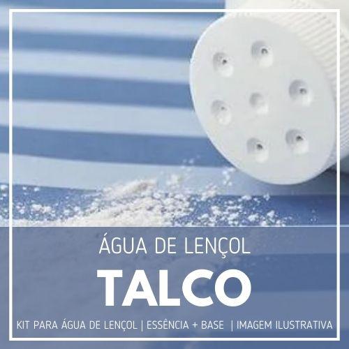 Essência Talco + Água Lençol - Ganhe Válvula Borrifadora