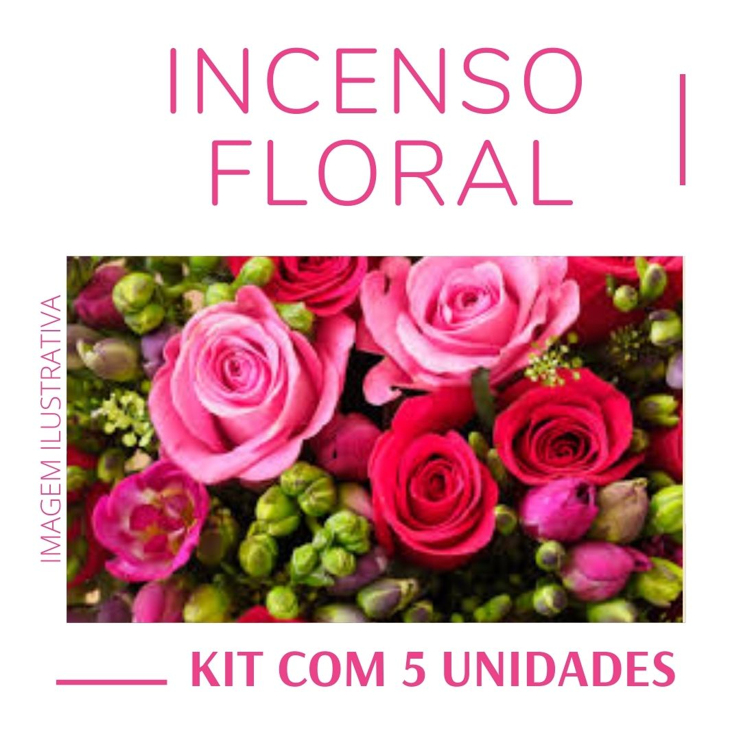 Incenso Indiano Floral ( Kit 5 unidades )