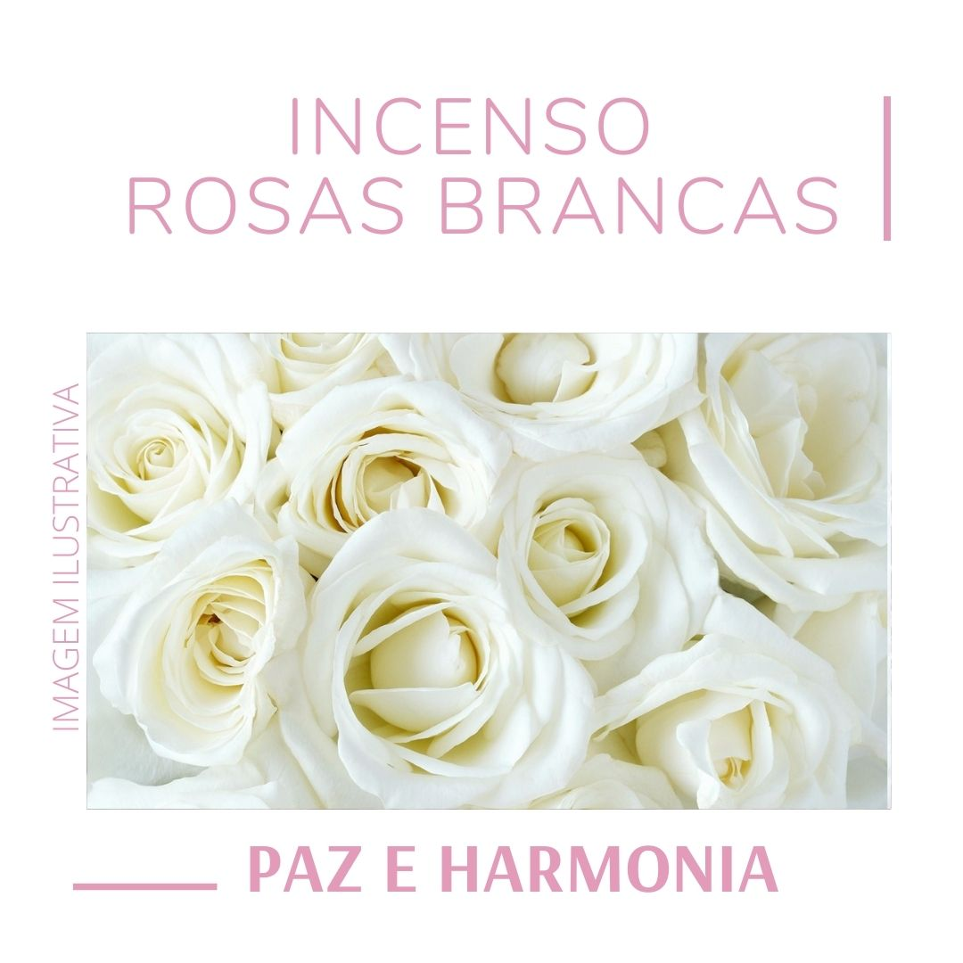 Incenso Rosas Brancas