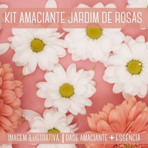 KIT AMACIANTE - Base Amaciante + Essência Jardim de Rosas DWN