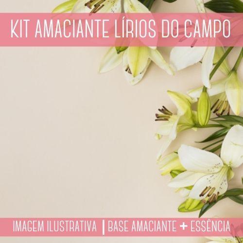 KIT AMACIANTE - Base Amaciante + Essência Lírios Do Campo
