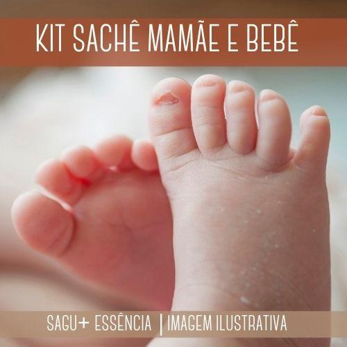 KIT SACHÊ - Sagu + Essência Versão Inspirada Mamãe e Bebê
