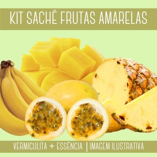 KIT SACHÊ - Vermiculita + Essência Frutas Amarelas