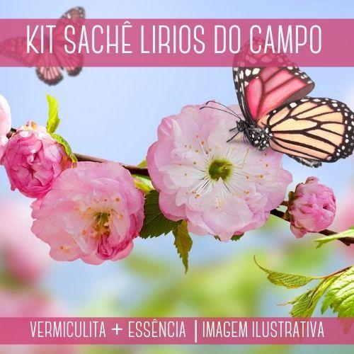 KIT SACHÊ - Vermiculita + Essência Lírios do Campo