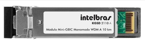 MÓDULO MINI-GBIC GIGABIT ETHERNET MONOMODO 10 KM KGSD 2110 A - INTELBRAS