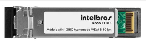 MÓDULO MINI-GBIC GIGABIT ETHERNET MONOMODO 10 KM KGSD 2110 B - INTELBRAS
