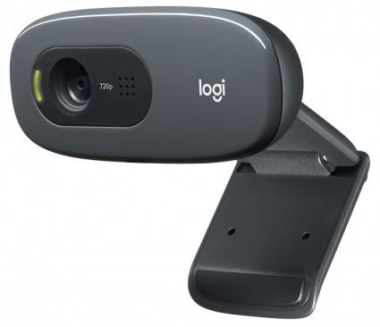 Webcam Gamer C270 HD 720p Com Microfone Plug-and-play 3 MP Original - Logitech
