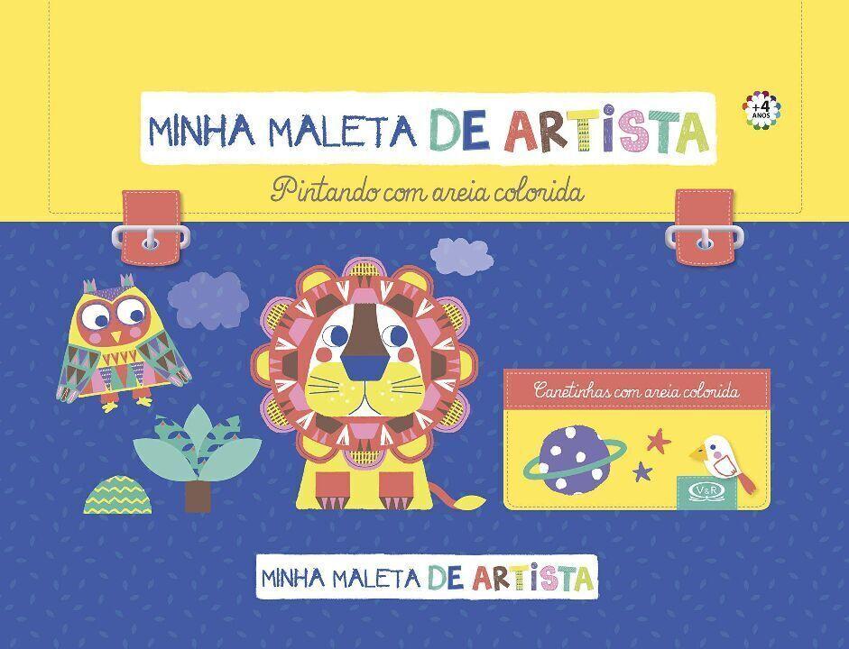 Minha maleta de artista: pintando com areia colorida