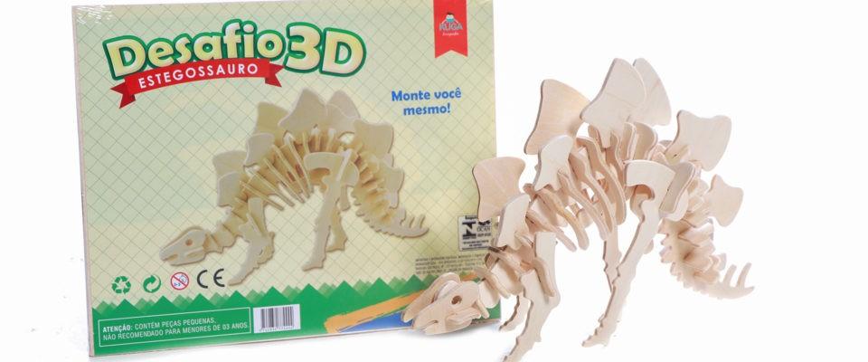 Quebra-cabeça Desafio 3D - Estegossauro