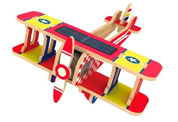Quebra-cabeça Desafio 3D Solar - Avião Biplane