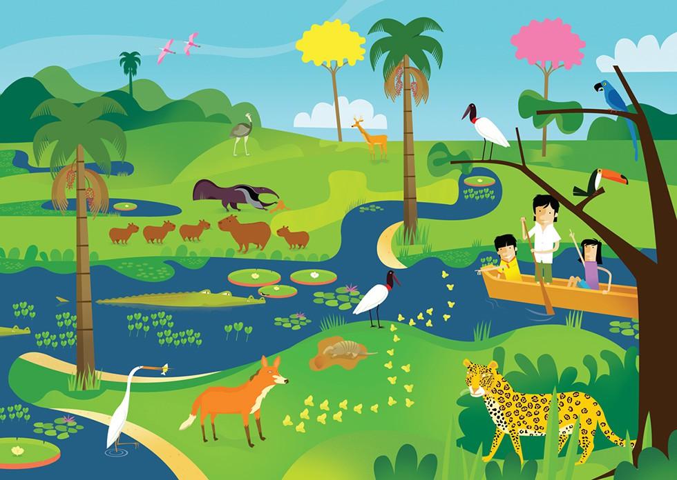 Quebra-cabeça Gigante - Bichos do Pantanal