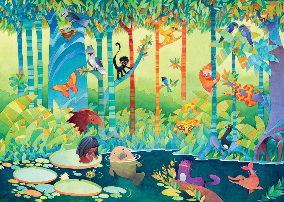 Quebra-cabeça Gigante - Floresta Amazônica