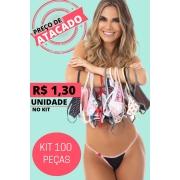 Kit C/100 Calcinhas Lingerie Revenda Atacado Luxo Promoção #1