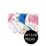 Kit C/10 Calcinhas Infantil Malha