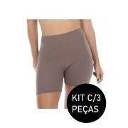 Kit C/3 Short Anágua para Usar Por Baixo De Vestido Básico