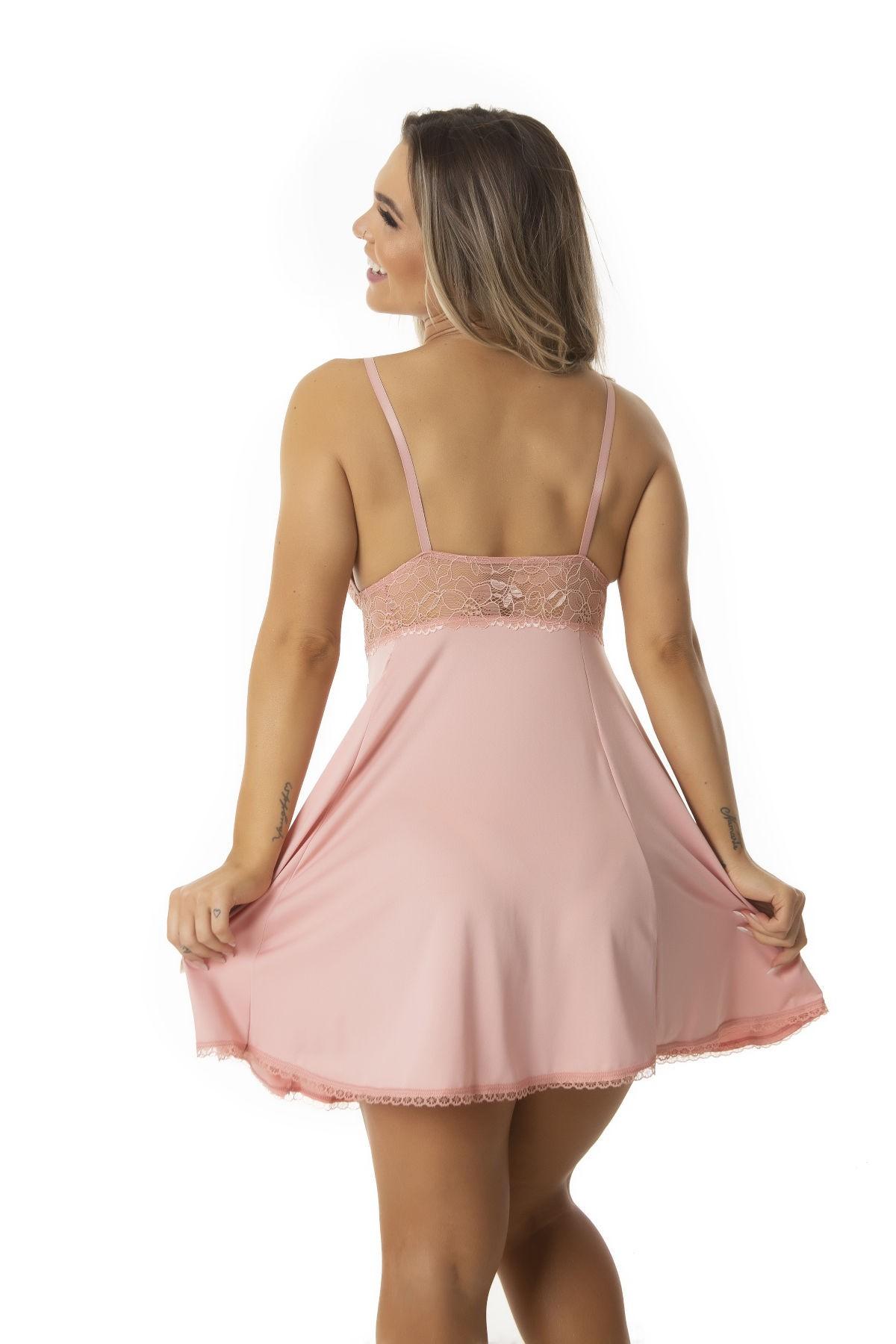 Camisola Feminina Sexy Pijama Lingerie Renda Anita Luxo