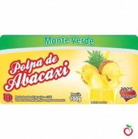 Abacaxi com Hortelã - Polpa de Fruta Congelada (10x100g)