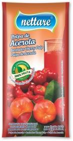 NETTARE - POLPA DE ACEROLA 100G  (PACOTE C/ 4 UND)
