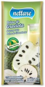 NETTARE - POLPA DE GRAVIOLA 100G  (PACOTE C/ 4 UND)
