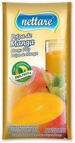 NETTARE - POLPA DE MANGA 100G  (PACOTE C/ 4 UND)