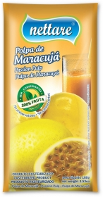 NETTARE - POLPA DE MARACUJÁ 100G  (PACOTE C/ 4 UND)
