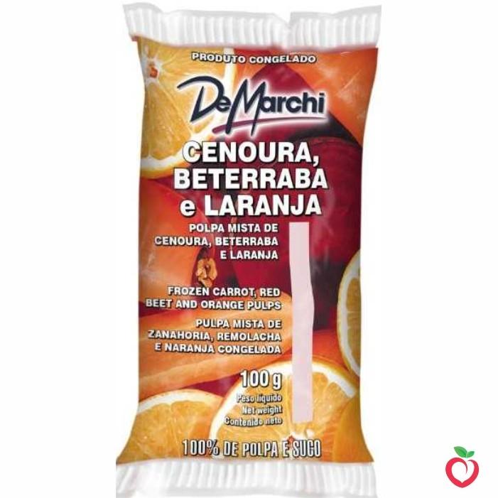 Cenoura Beterraba e Laranja - Polpa de Fruta Congelada 100g