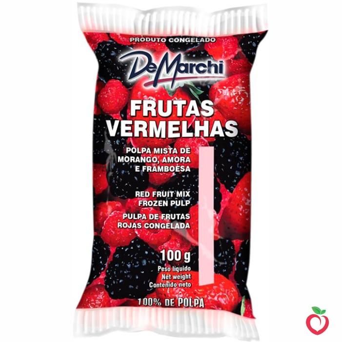Frutas Vermelhas - Polpa Mista de Fruta Congelada 100g