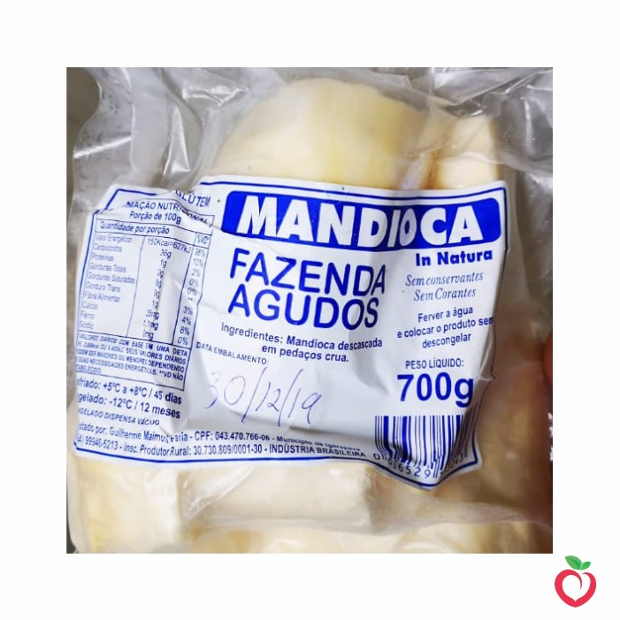 Mandioca Congelada 700g