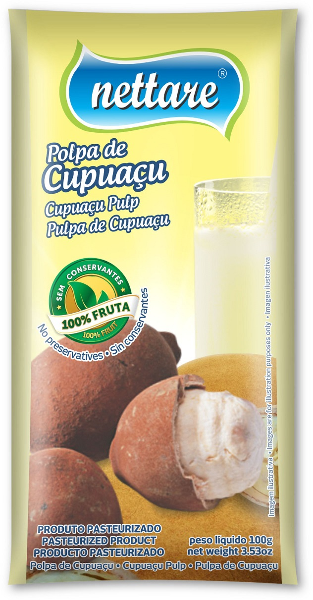 NETTARE - POLPA DE CUPUACU 100G  (PACOTE C/ 4 UND)