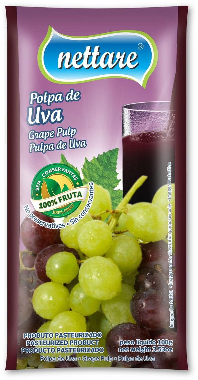 NETTARE - POLPA DE UVA 100G  (PACOTE C/ 4 UND)