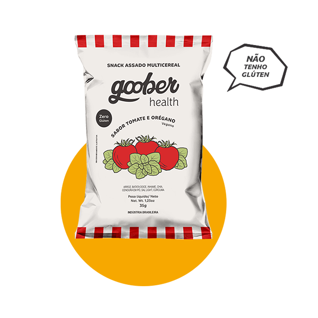 Snack Multicereal Goober - Tomate e Oregáno 35 g
