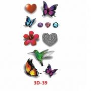 Tatuagem Adesiva 3D-39