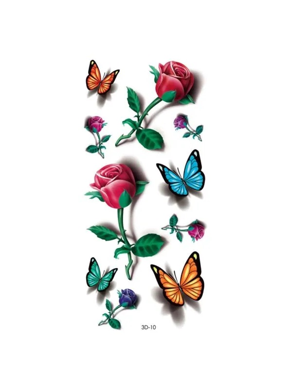Tatuagem Adesiva 3D-10 X414 MINI