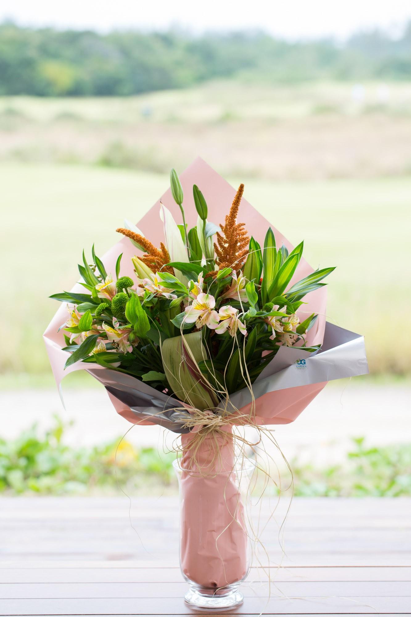 Bouquet de Lírios e Alstroemeria