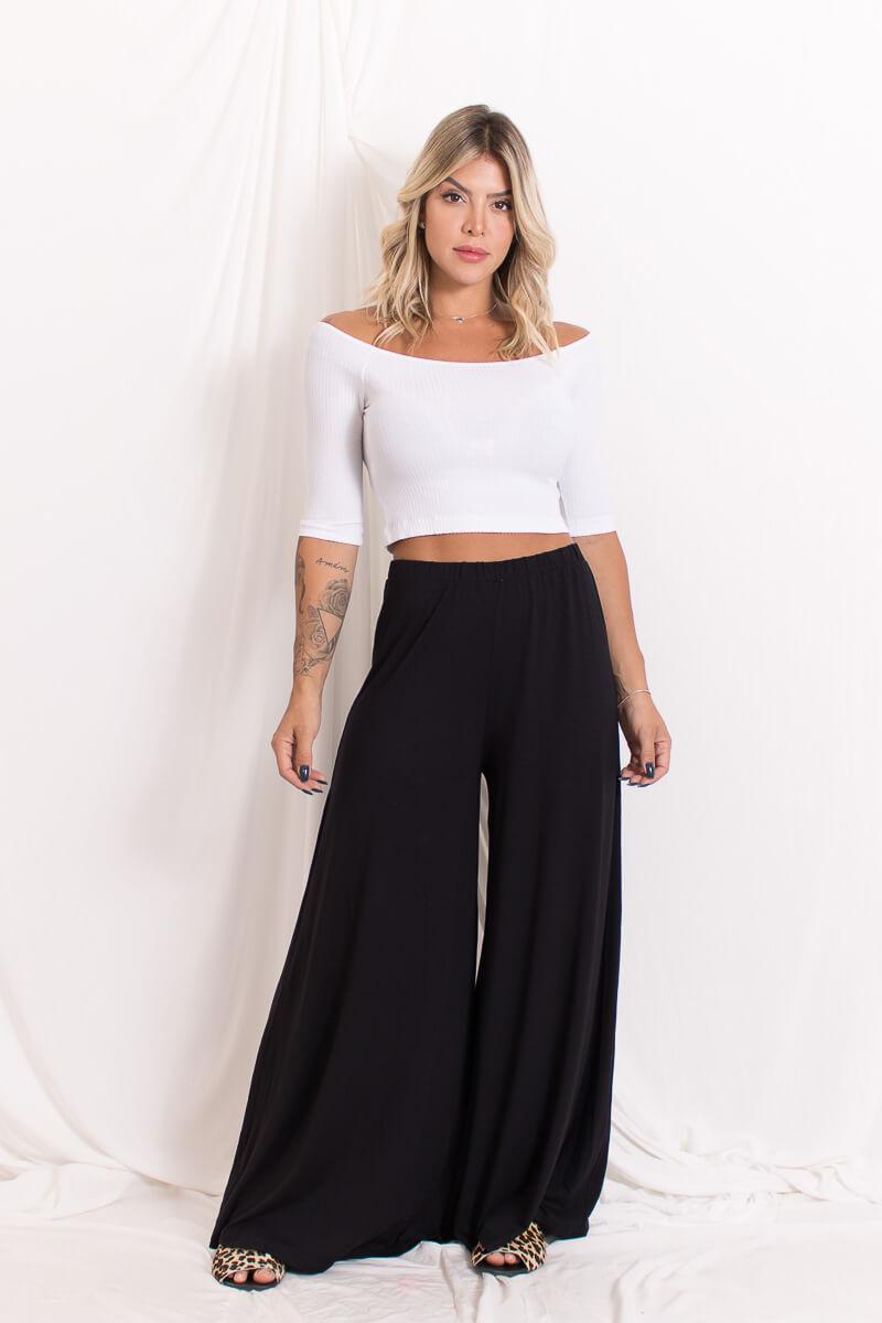 Calça Pantalona Malha