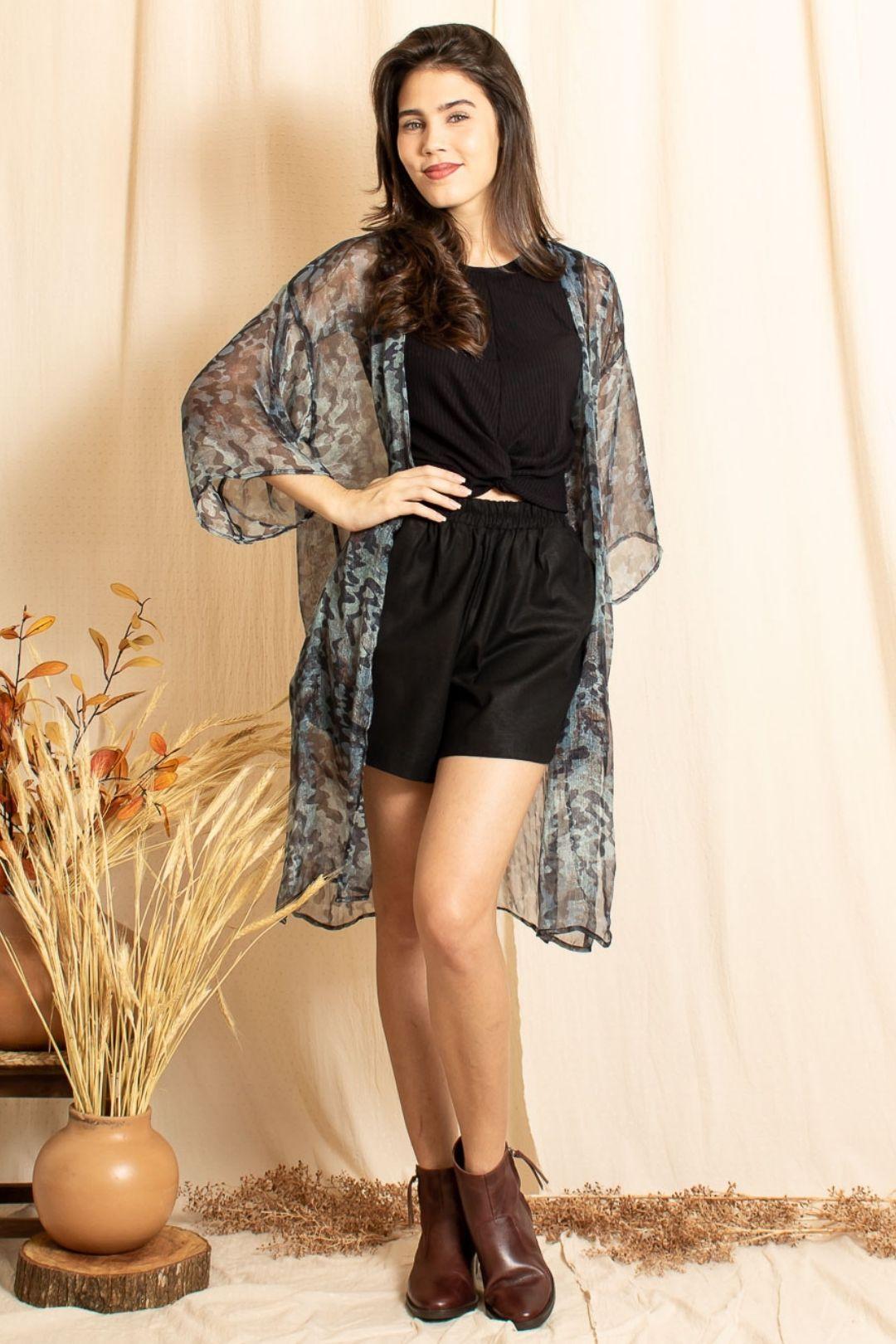 Kimono Longo Voil