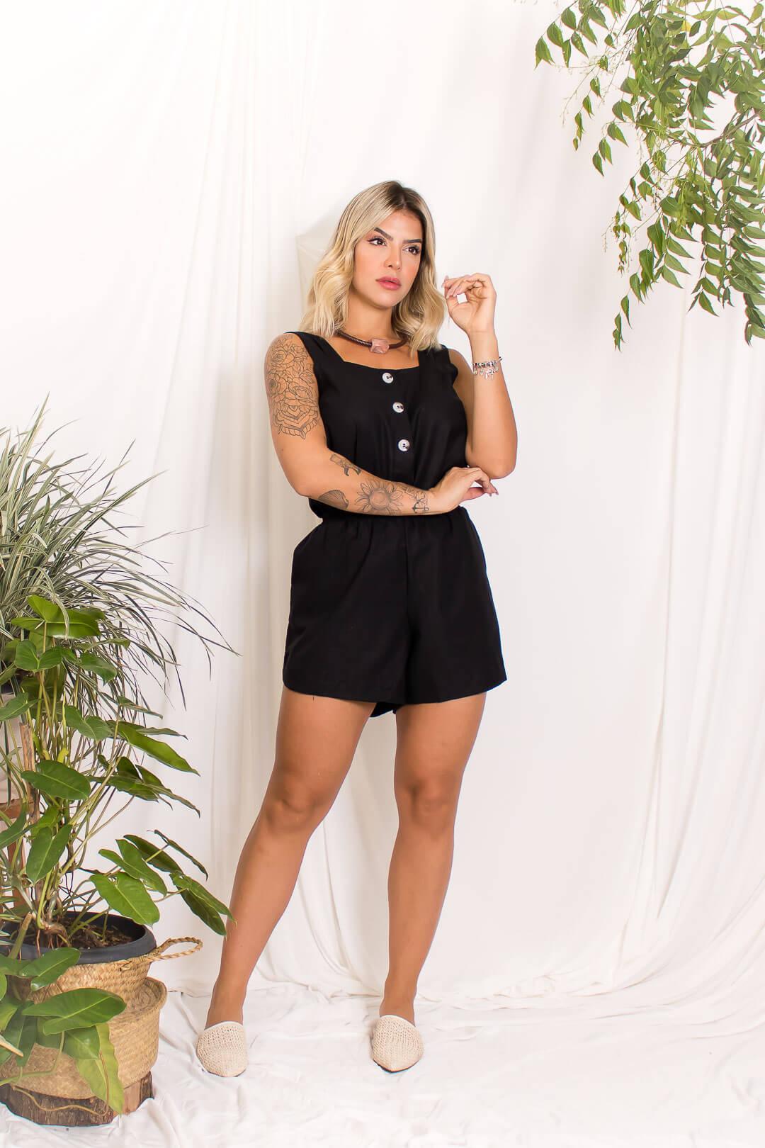 Short Linho