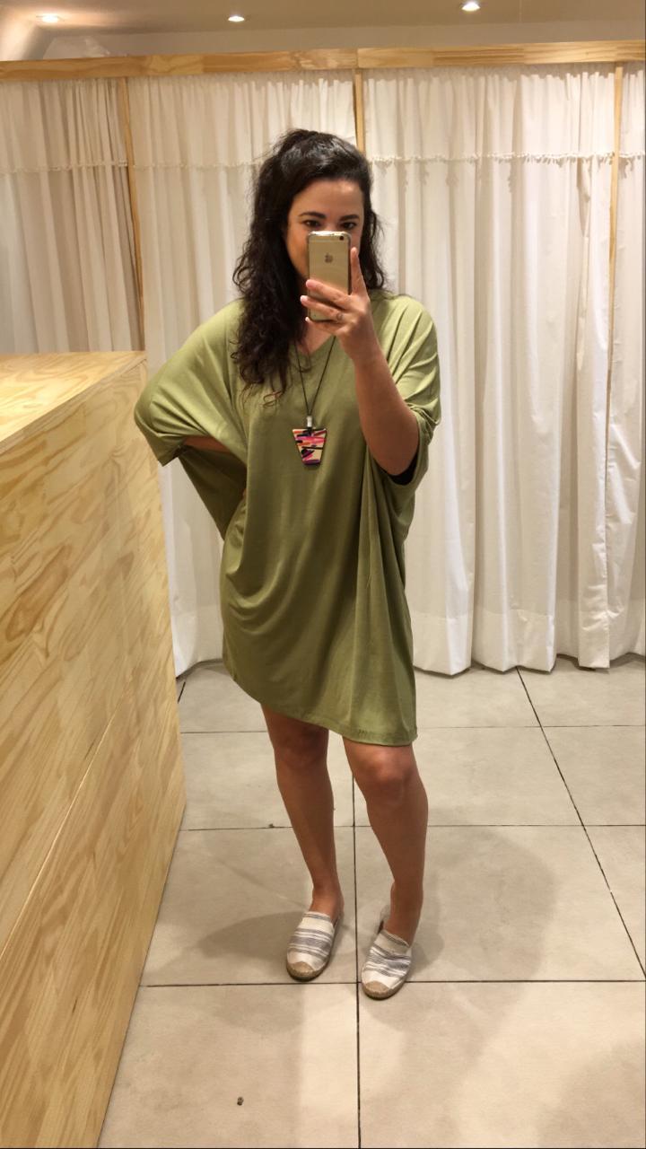 Vestido Camisão Malha