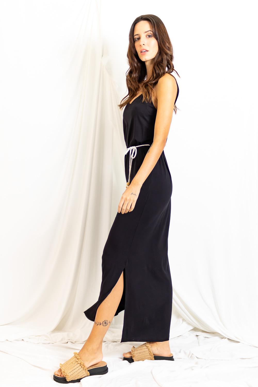 Vestido Longo Malha Alça larga