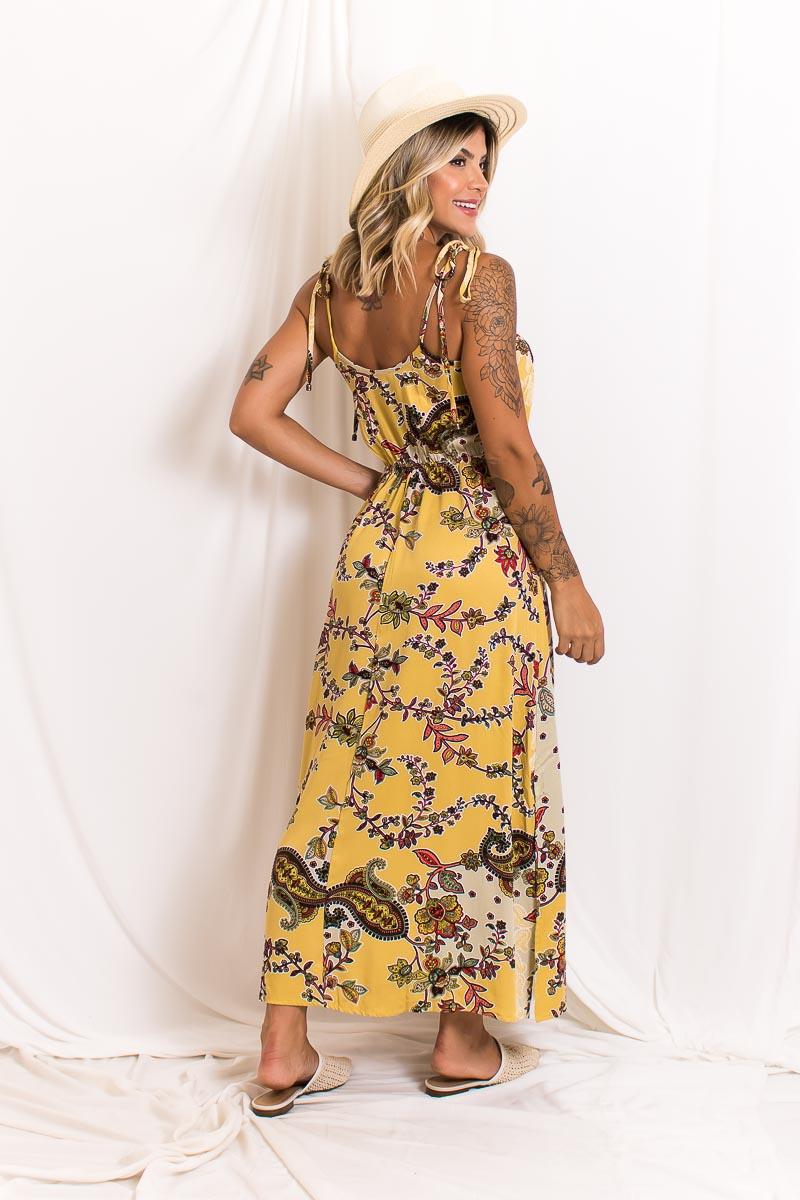 Vestido Midi Alça Amarração