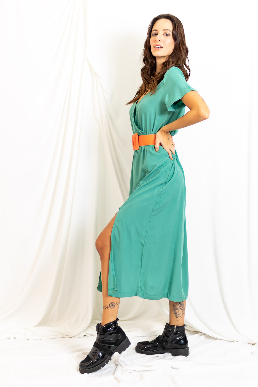 Vestido Midi Fendas