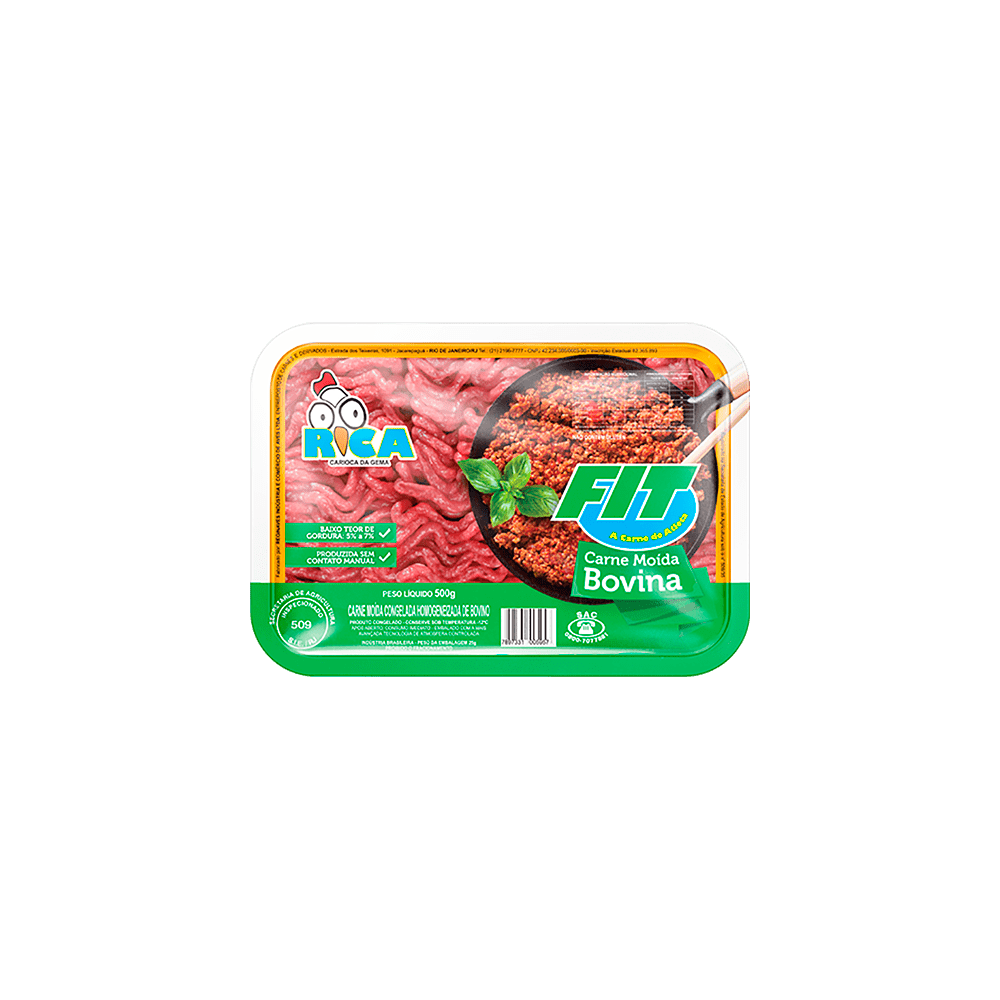 Carne Moída Bovina Fit Rica - Embalagem de 500g