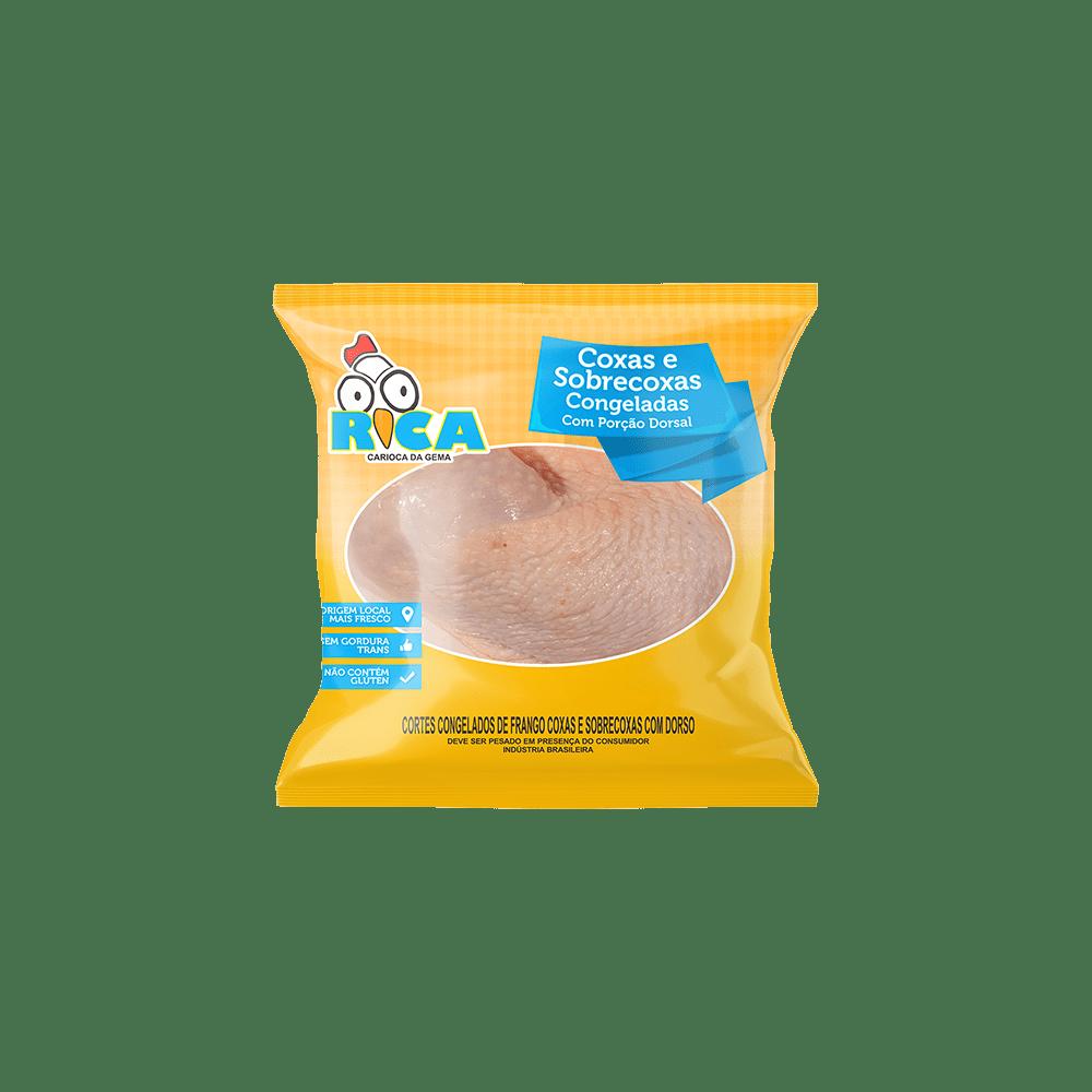 Coxa e Sobrecoxa de Frango Congelada Rica - Caixa com 22kg