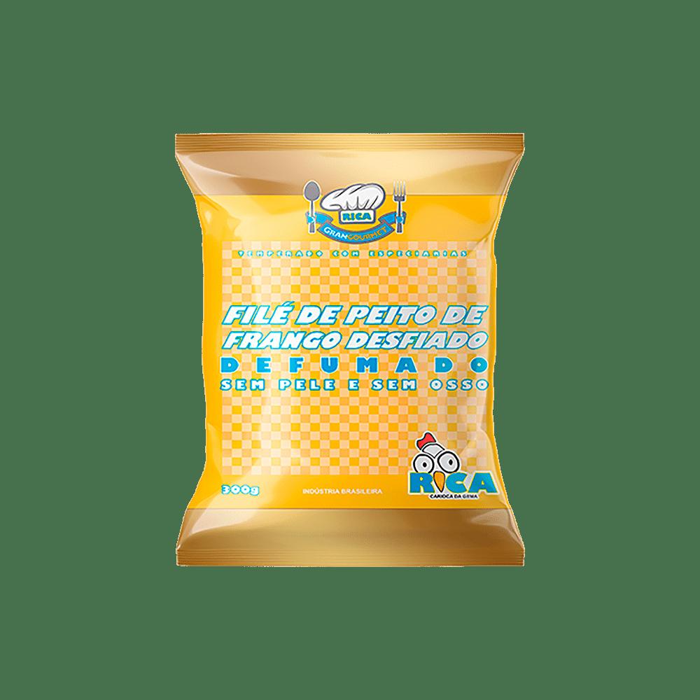 Filé de Peito de Frango Desfiado e Defumado Rica - Embalagem de 300g